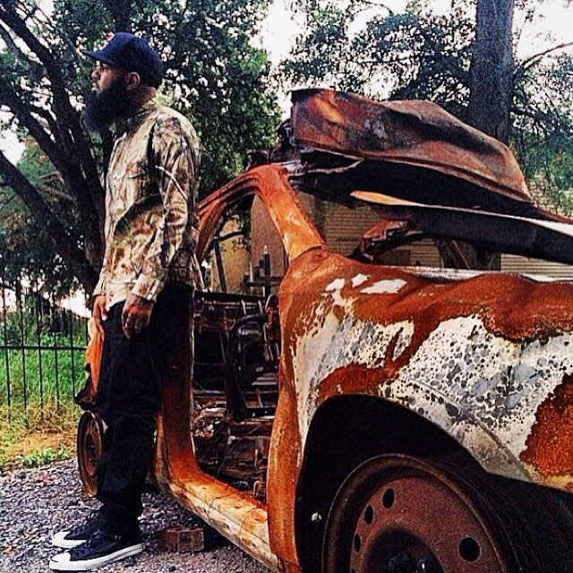 Stalley wearing Converse Jack Purcell