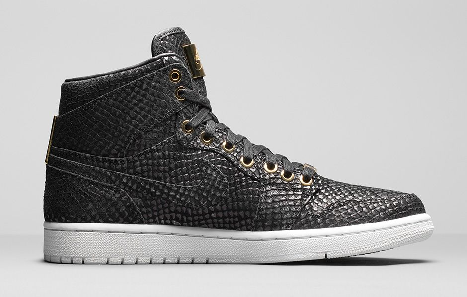 Air Jordan 1 Pinnacle Black/Gold 705075-030 (3)