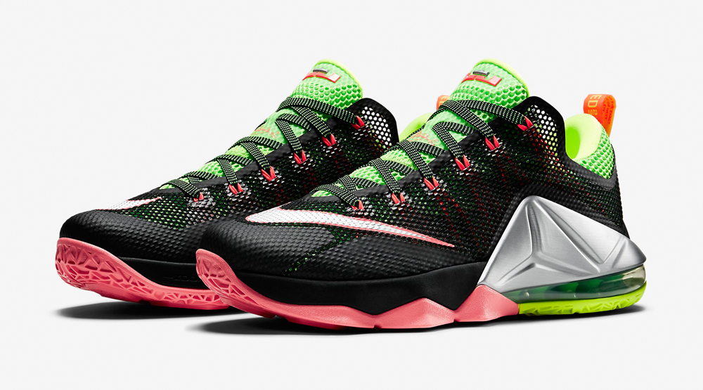 0c99adfd7857 Release Date  Nike LeBron 12 Low  Black Green Strike