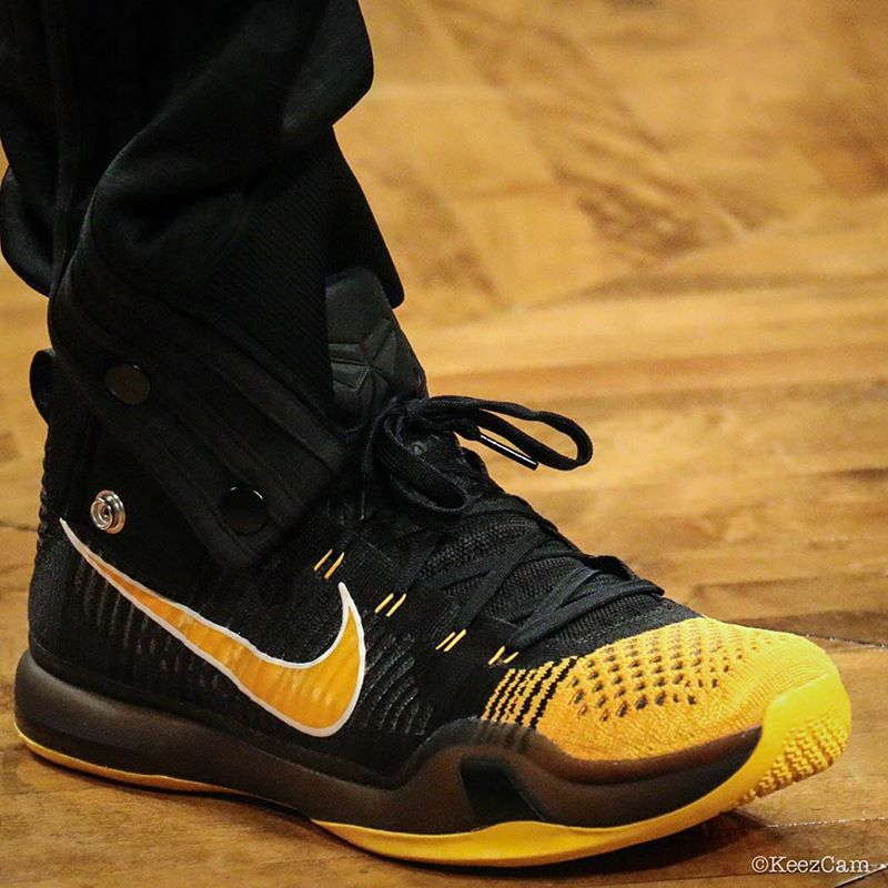 8a26713d4b48 Kobe Bryant wearing a  Hollywood Nights  Nike Kobe 10 Elite PE (2)