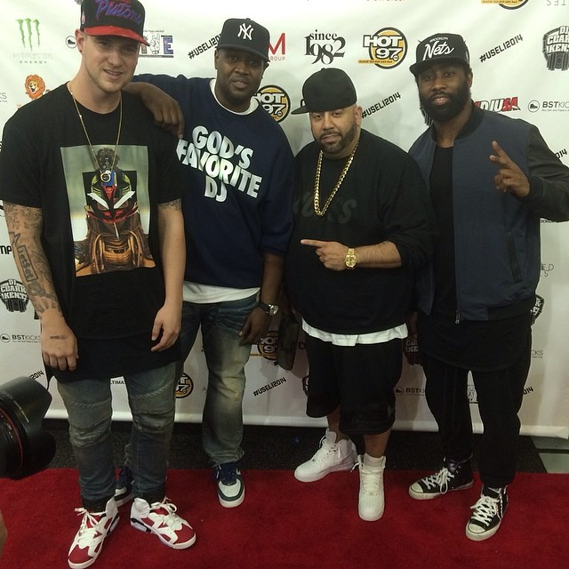DJ Clark Kent   Mayor wearing Nike Air Force 1  Darrelle Revis wearing  Converse Chuck 622509658ea8