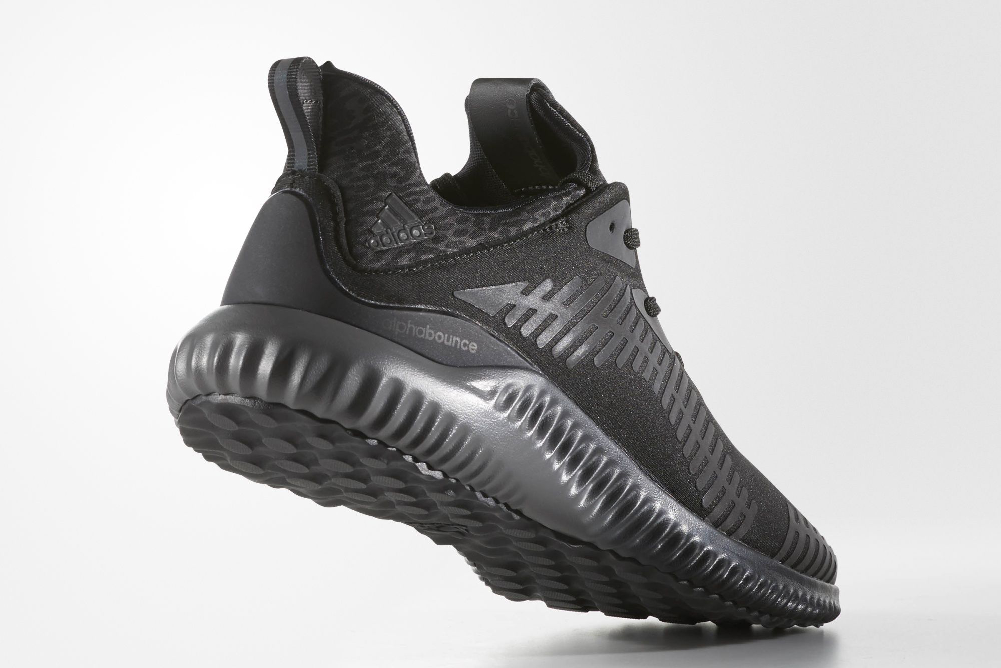1c97e480bd6 Image via Adidas Triple Black Adidas Alpha Bounce Xeno Heel