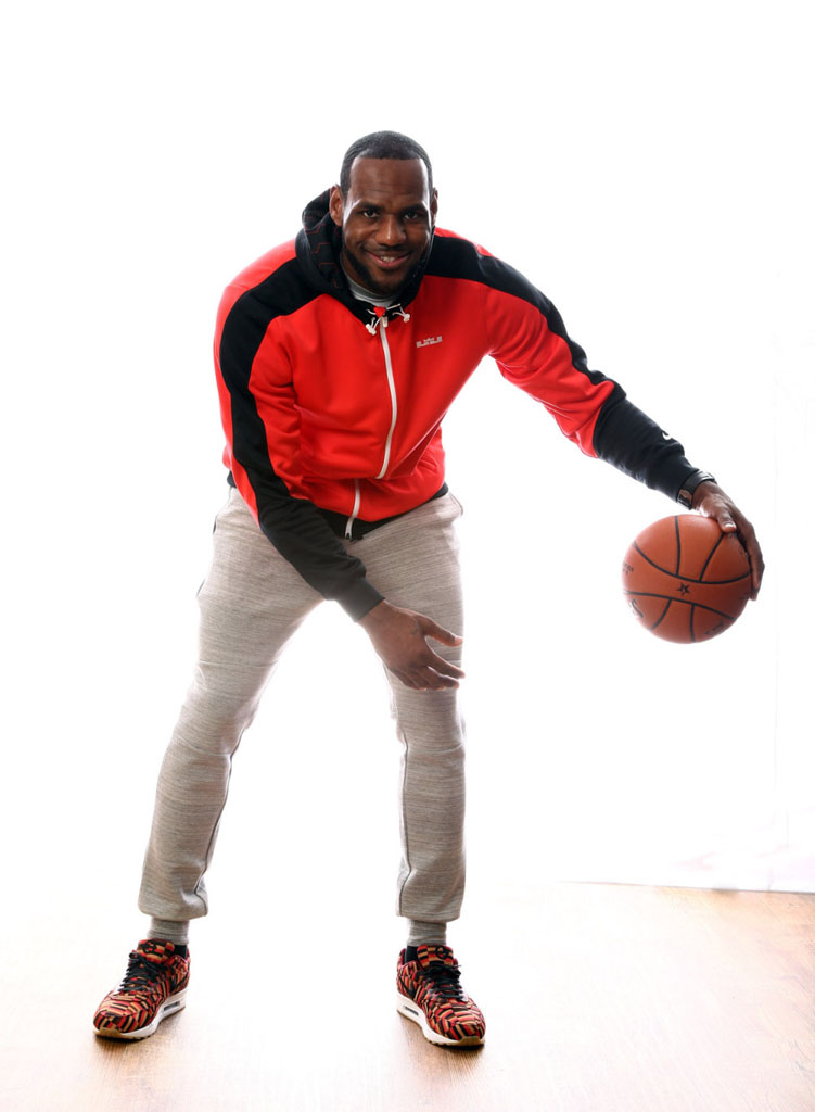 LeBron James wearing London Underground x Nike Air Max Roundel