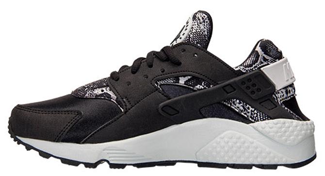 dernière ligne meilleure vente Nike Air Huarache - Femmes Noir / Platine Pur CxwjfQ