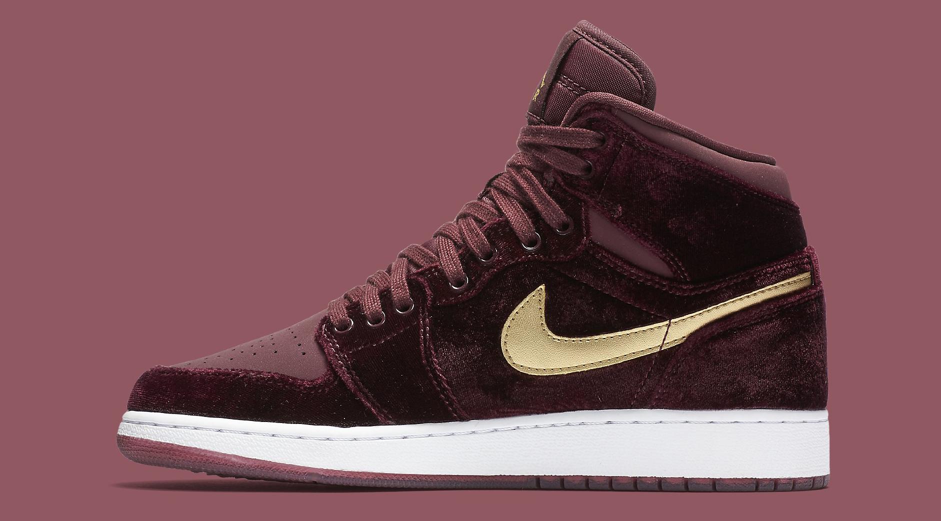 velvet jordans shoes