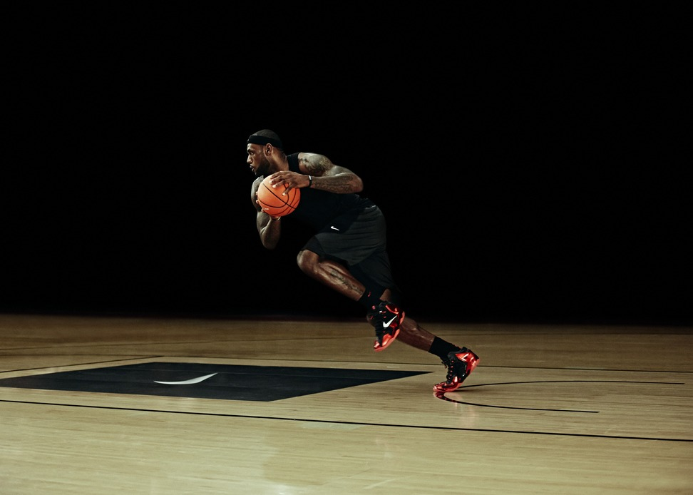 Nike LeBron 11 XI in black university red away colorway