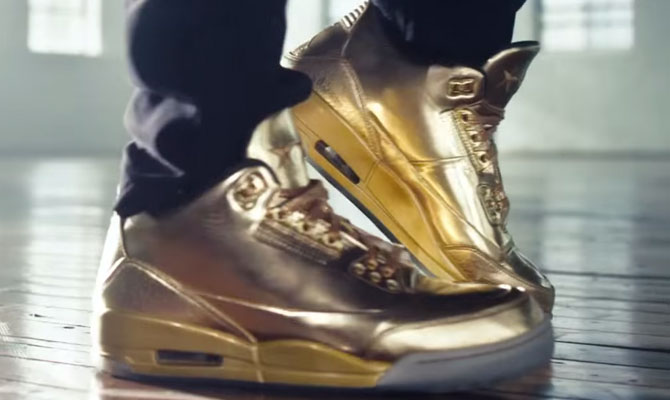 Usher wearing Air Jordan III 3 Gold (1)