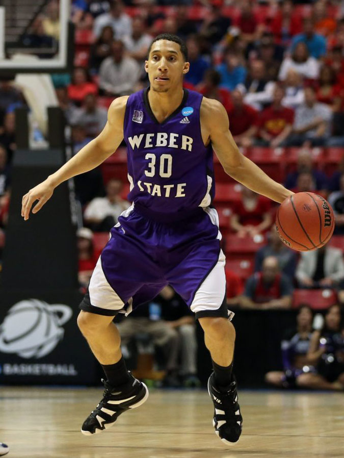 Jeremy Senglin wearing adidas Crazy 8