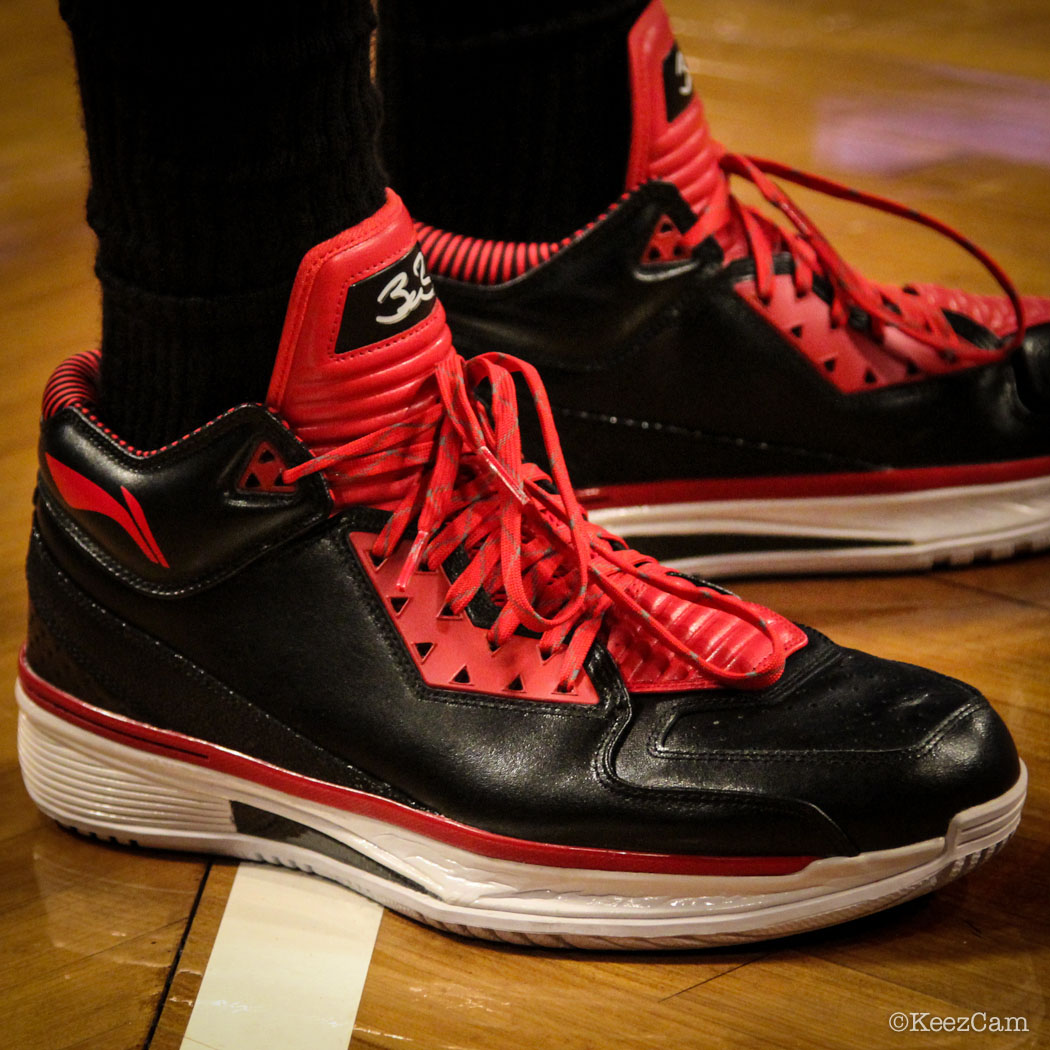 Sole Watch // Up Close At Barclays for Nets vs Heat - Udonis Haslem wearing Li-Ning Way of Wade 2