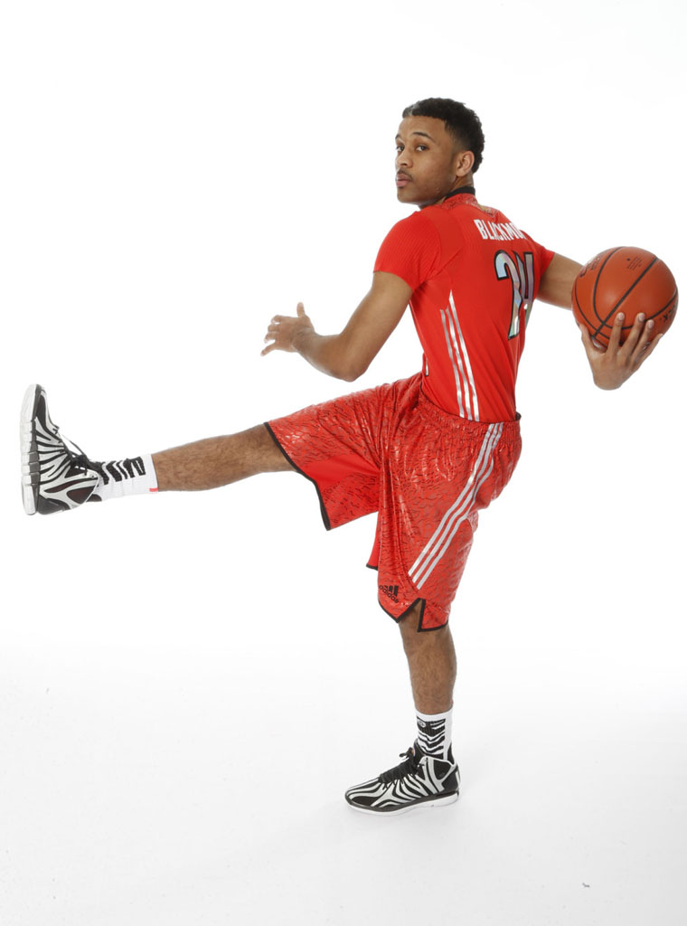James Blackmon Jr. wearing adidas D Rose 4.5