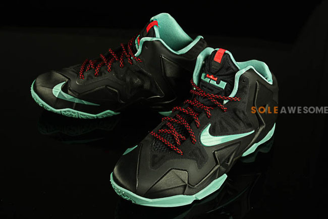 30cb006bfe7d Nike LeBron 11 GS in Black   Mint   Red    First Look. it seems like barely  a week goes by without a new colorway of the LeBron 11 being leaked