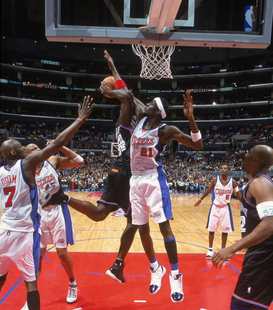 Darius Miles Air Jordan XVI PE Los Angeles Clippers Home (2)