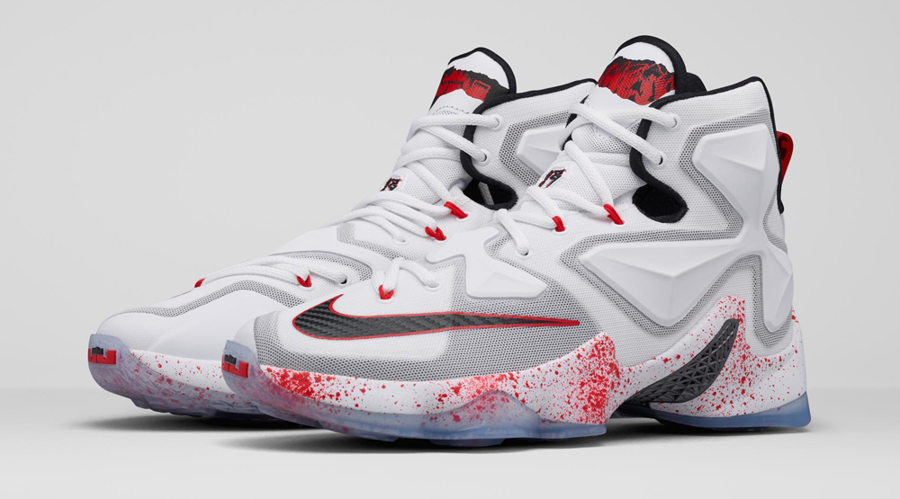 LeBron Friday the 13th Sneakers Images via Nike
