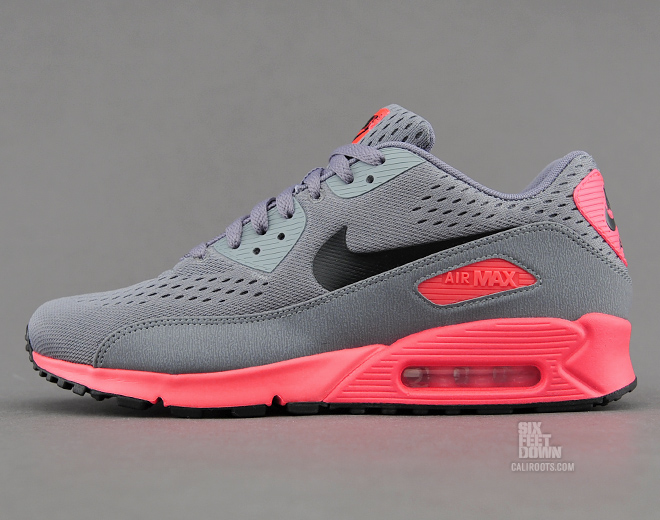 nike air max 90 em – cool grey / atomic red