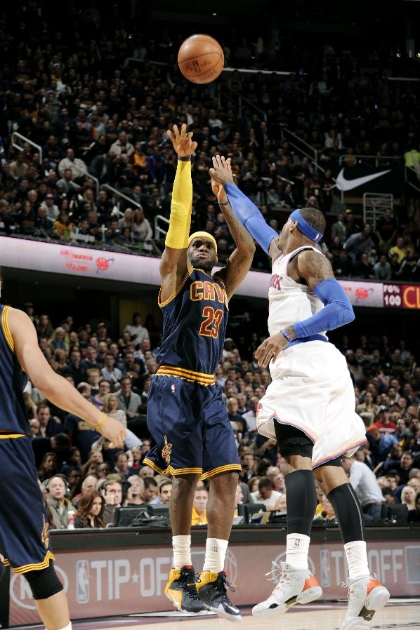 LeBron James wearing Nike LeBron XII 12 Blue Cavs PE (2)