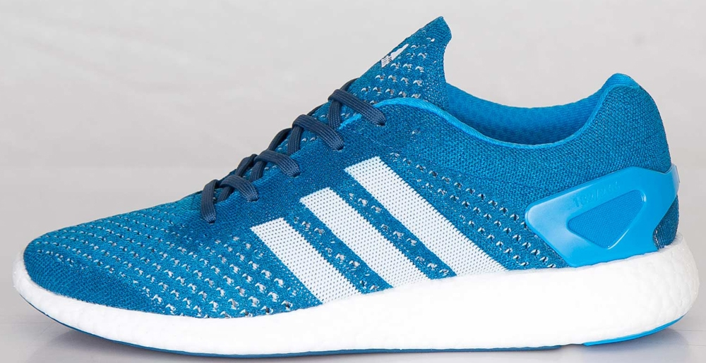 adidas Consortium Primeknit Pure Boost Solar Blue/Running White-Tribe Blue