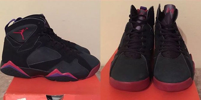 Air Jordan 7 Red Toe Raptor Sample