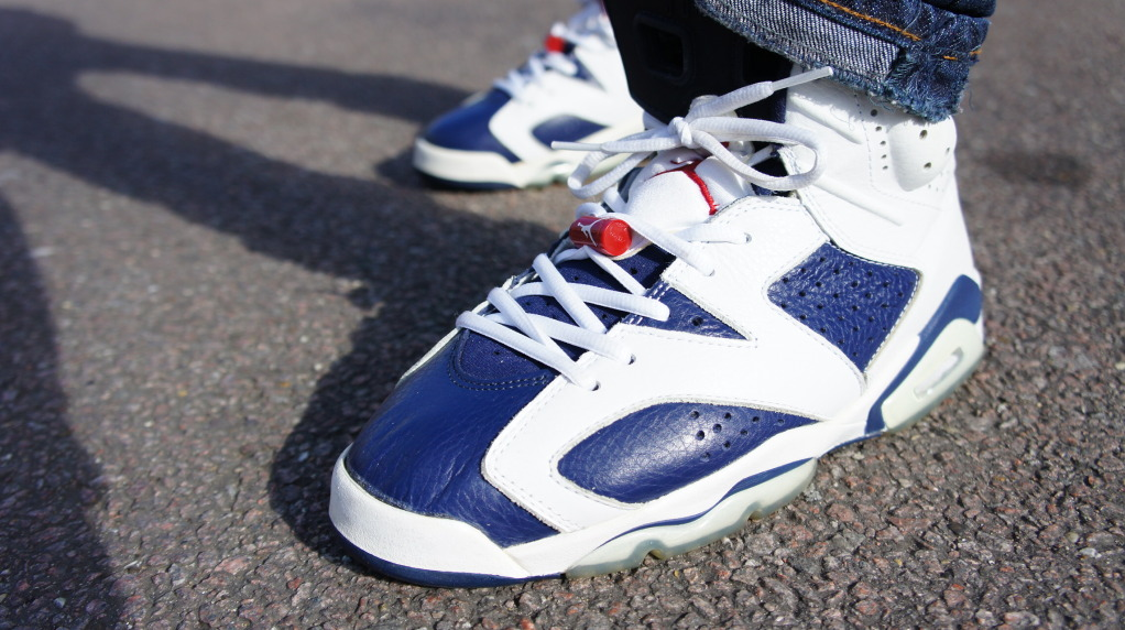 Olympic 6s On Feet Wee...