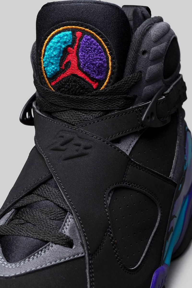 Air Jordan 8 Retro Playoffs Black Black True Red  shoes