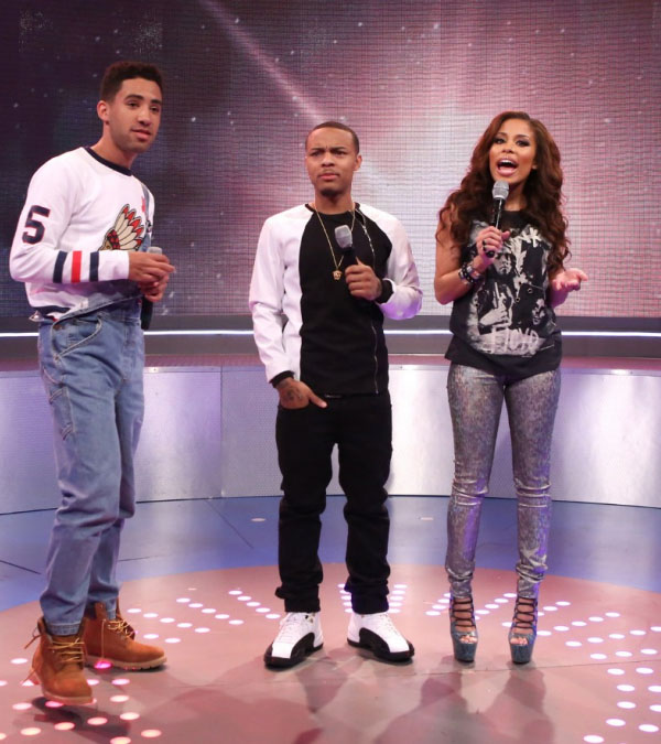 Bow Wow wearing Air Jordan 12 Retro Taxi