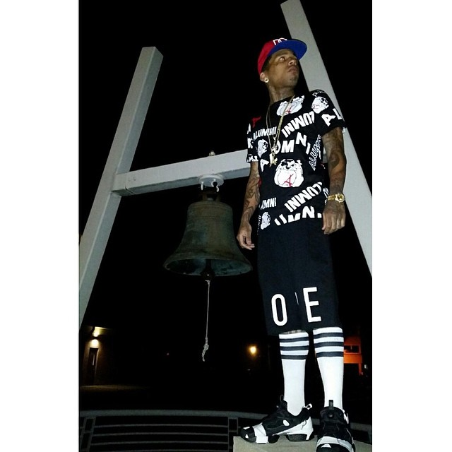 Kid Ink wearing 24 Kilates x 11 by Boris Bidjan Saberi x Reebok Pump Fury