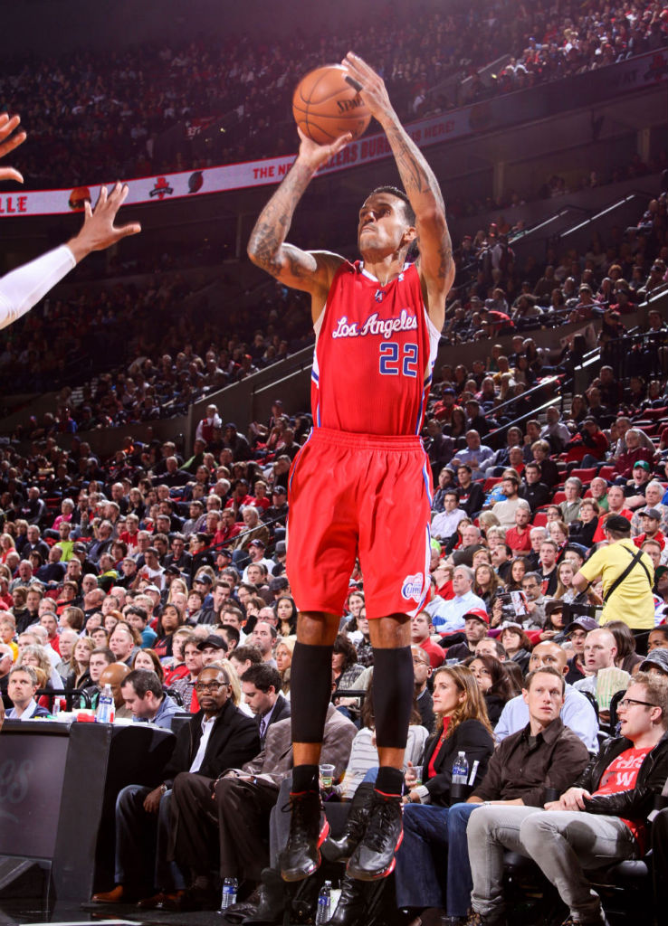 Matt Barnes wearing adidas adizero Crazy Light 2