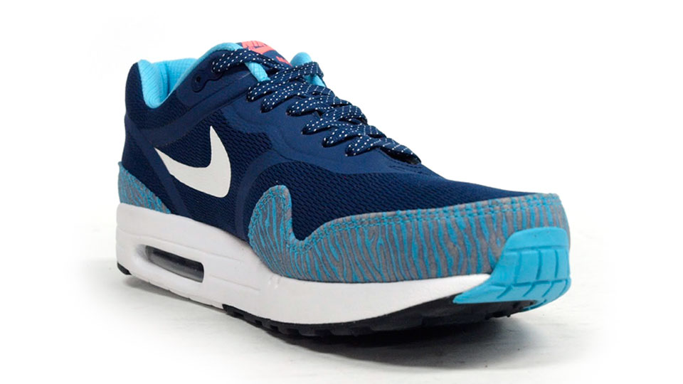 nike air max 1 premium tape zebra in brave blue medial