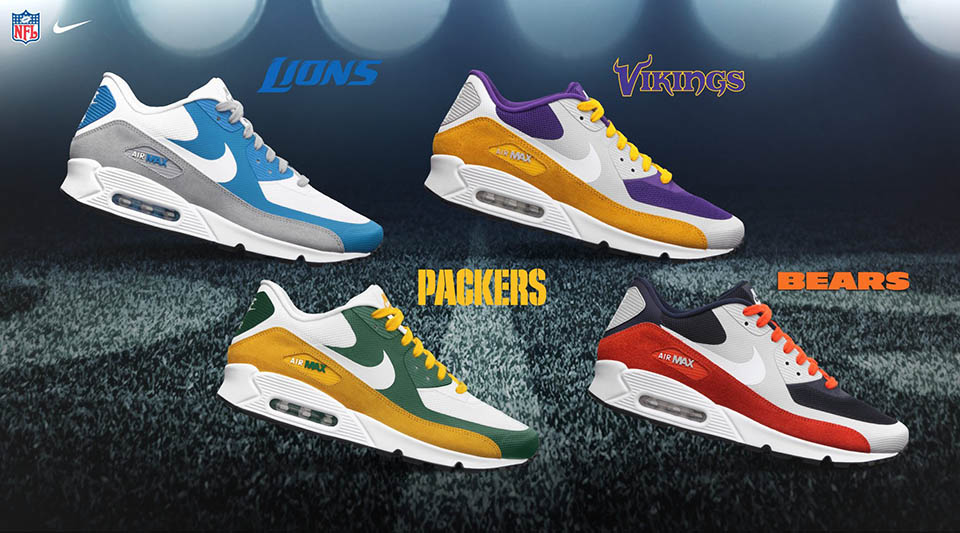 c3e91bf816 Nike NFL Draft Pack - NFC North - Nike Air Max 90