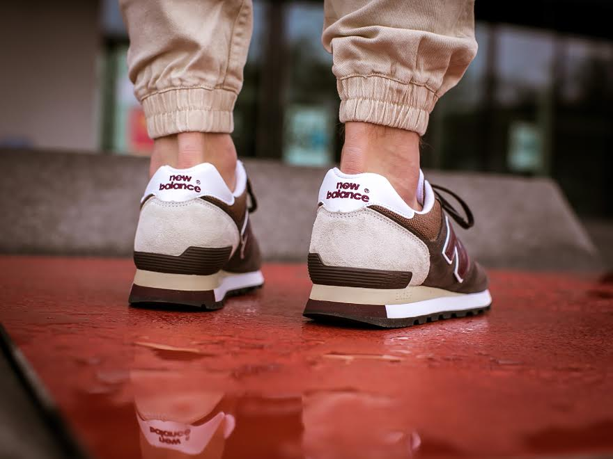 New Balance 575 Made in UK Brown/Burgundy Left