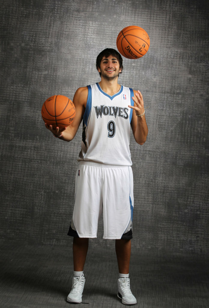 Ricky Rubio wearing adidas adiZero Crazy Light 2