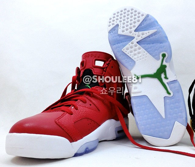 Air Jordan VI 6 Red Leather 694091-625 (5)