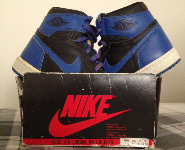 Pickups of the Week // Air Jordan I 1 OG Black Royal by Jordanhead21