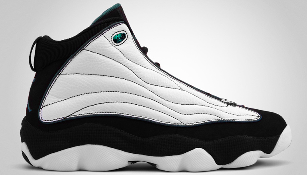 The Jumpman Pro Strong was one of the first Team Jordan's to come out in a  non-Chicago Bulls colorway. The white, black and mystic green colorway was  ...