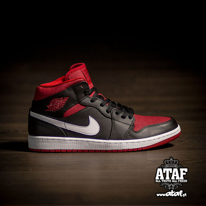 875c10d5d4d62 Air Jordan I 1 Mid Black Gym Red 554724-020 (1)