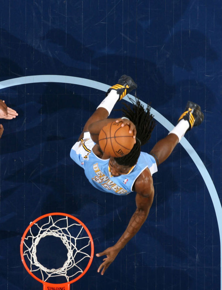 Kenneth Faried wearing adidas Crazy Fast
