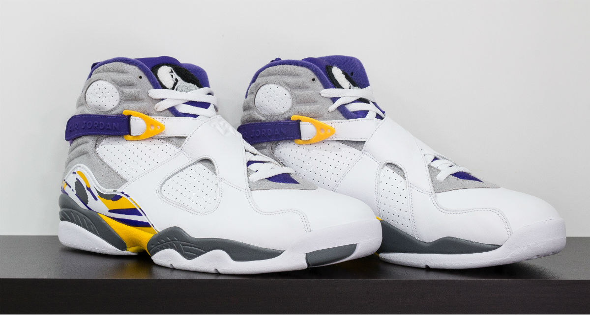 Air Jordan 8 Kobe Bryant Lakers PE White (1)