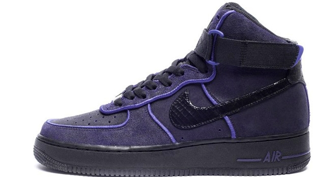 Nike Air Force 1 High Black/Black-Court Purple