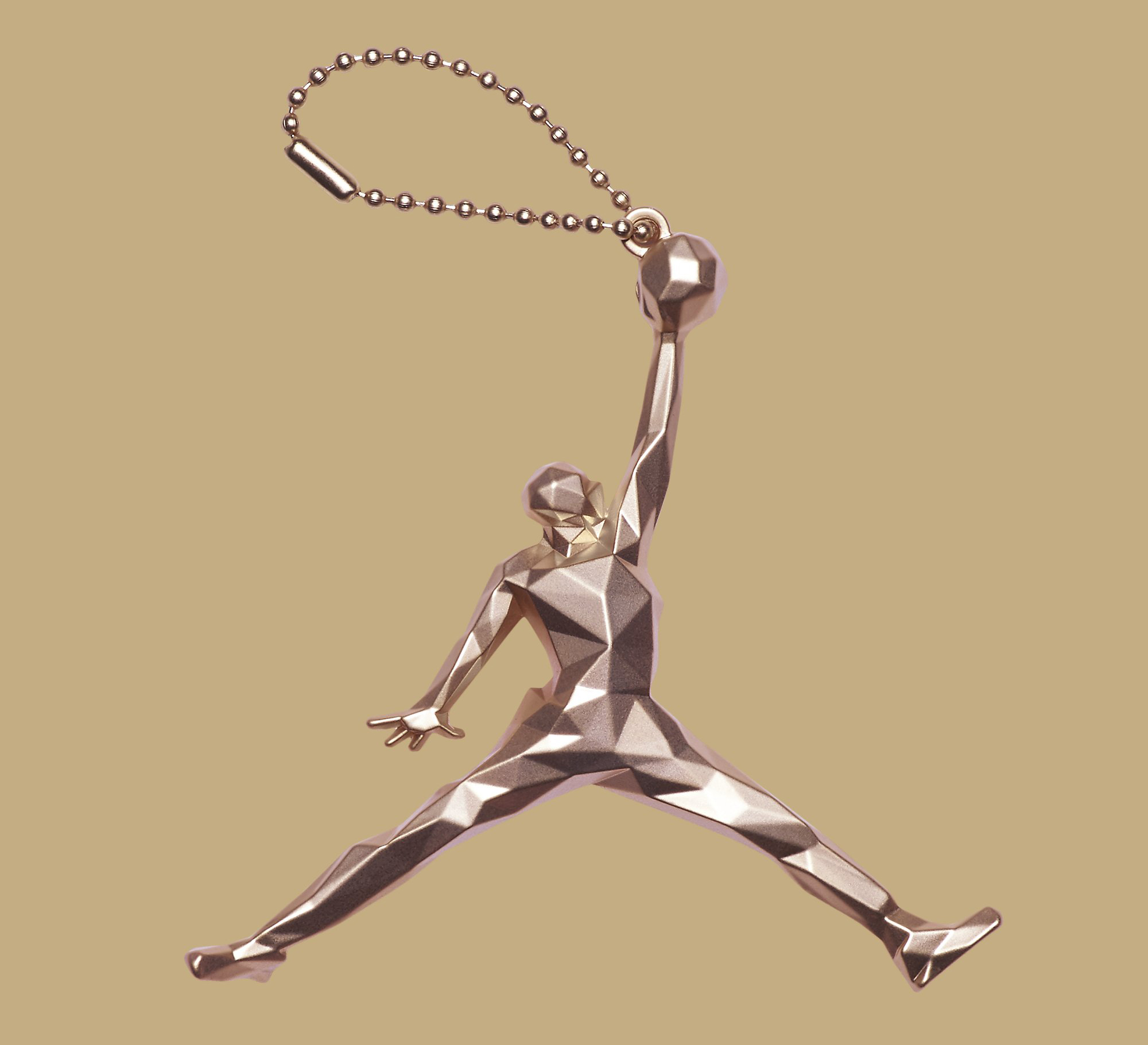 Gold Pinnacle Air Jordan 6 854271-730 Keychain