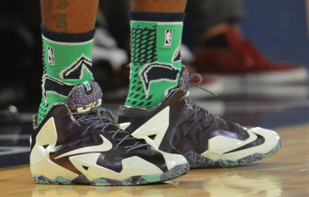 LeBron James wearing Nike LeBron 11