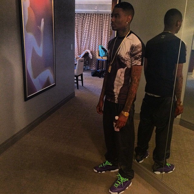 Soulja Boy wearing Jordan Six Rings Bel-Air
