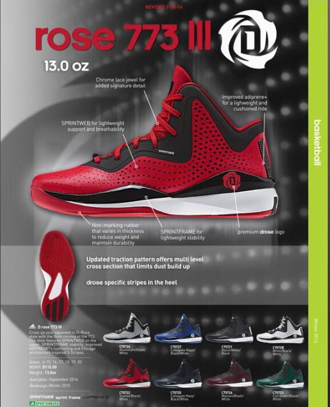 adidas d rose 3 weight