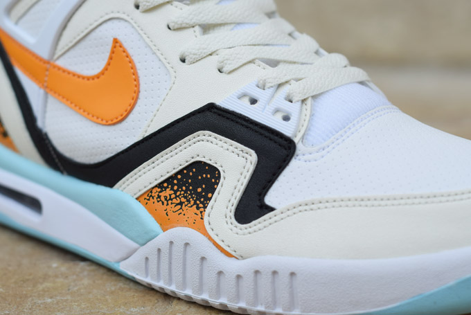 Nike Air Tech Challenge II Kumquat Toe Detail