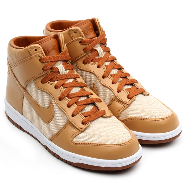 Nike Dunk High PRM SP in Natural Underbrush and Acorn