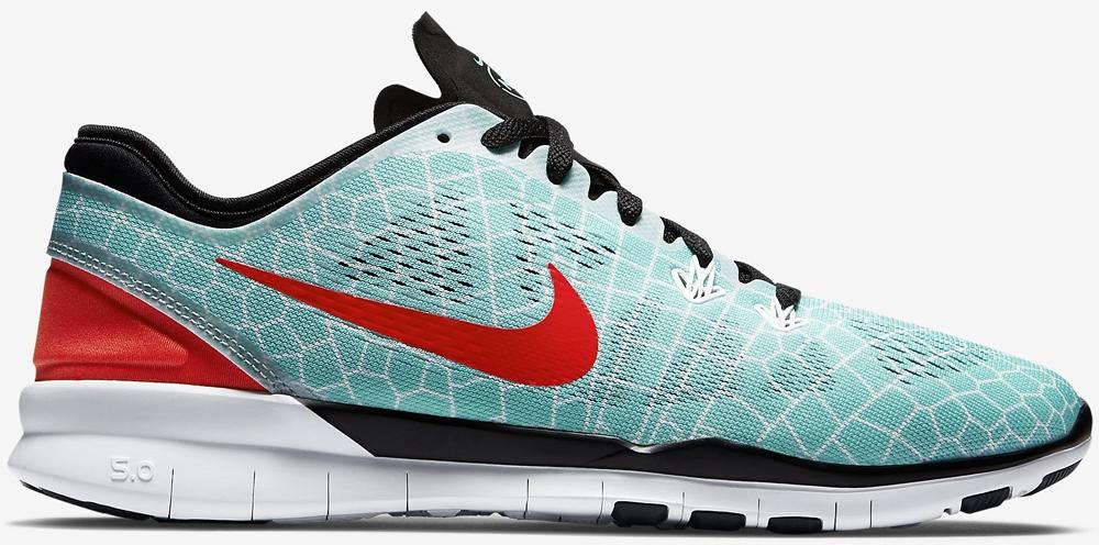 Nike Free 5.0 TR Fit 5 Print N7 Women's Hyper Turquoise/Black-White-Bright Crimson