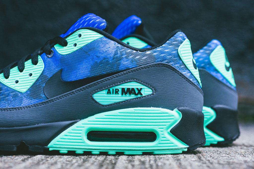 newest 184db e00a7 Nike Air Max 90 Comfort PRM - Hyper Cobalt Green Glow (3)