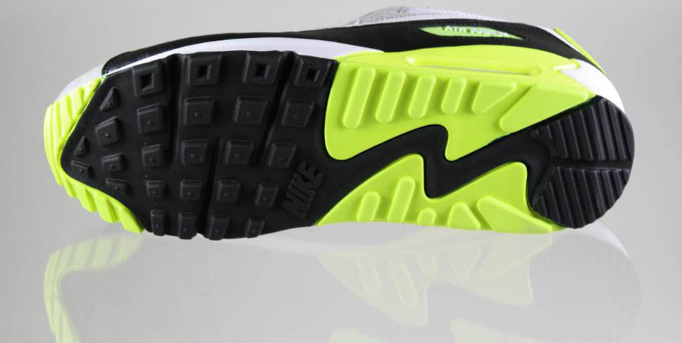 Nike Air Max 90 Black White Medium Grey Volt 325018-048 (6)