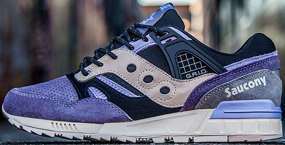 Saucony Grid SD Black/Purple-Grey
