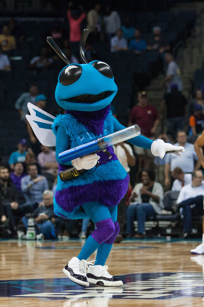 Hugo the Hornet wearing 'Concord' Air Jordan 11 (1)