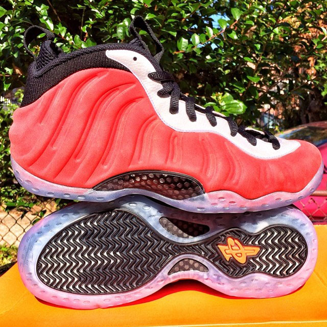 Nike Air Foamposite One Red Suede Sample