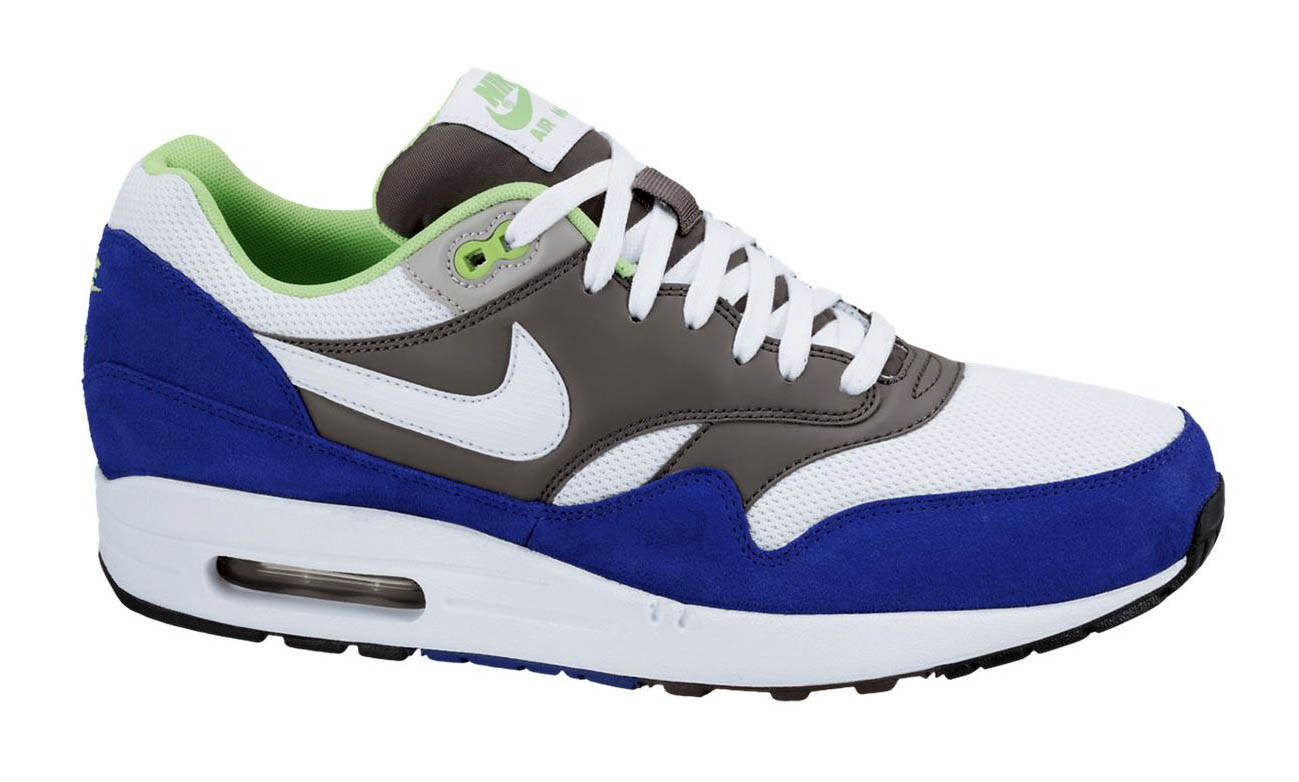Nike Air Max 1 Essential WhiteDark GreyHyper Blue | kicks